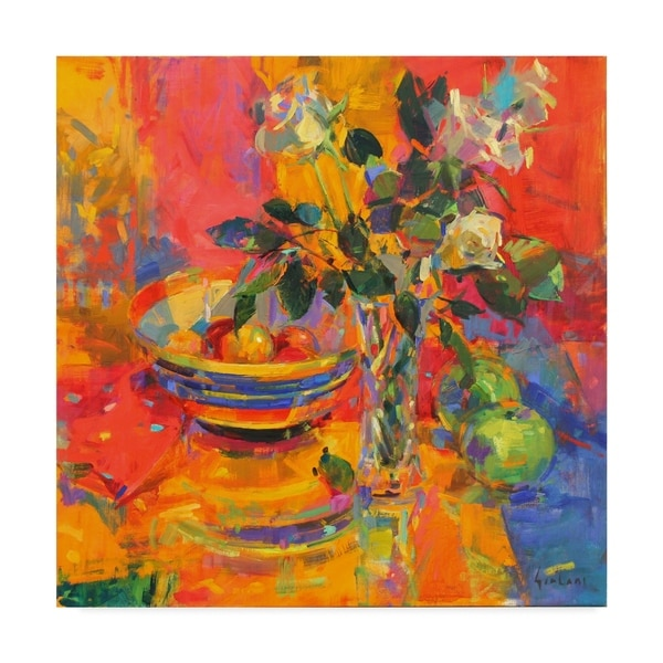 Peter Graham 'Still Life With Clarice Cliff Bowl' Canvas Art. Opens flyout.