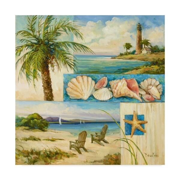 Barbara Mock ' Seaside Collage 2' Canvas Art 36767738