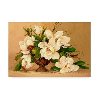 Barbara Mock ' Southern Magnolias' Canvas Art