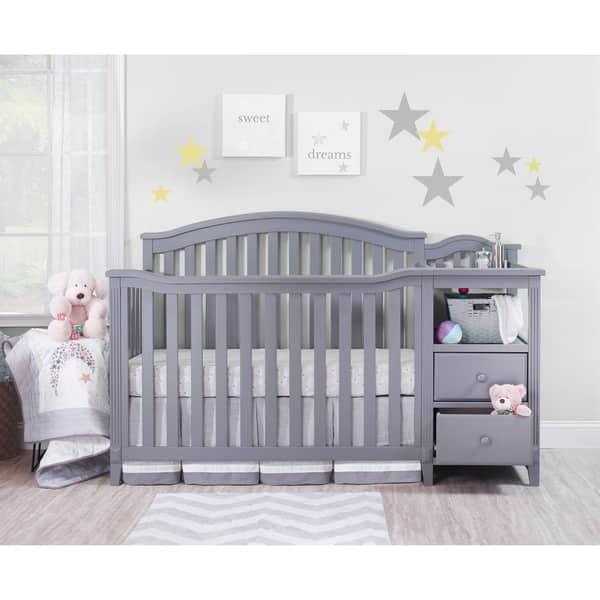 Shop Sorelle Berkley 4 In 1 Crib Changer Gray Free