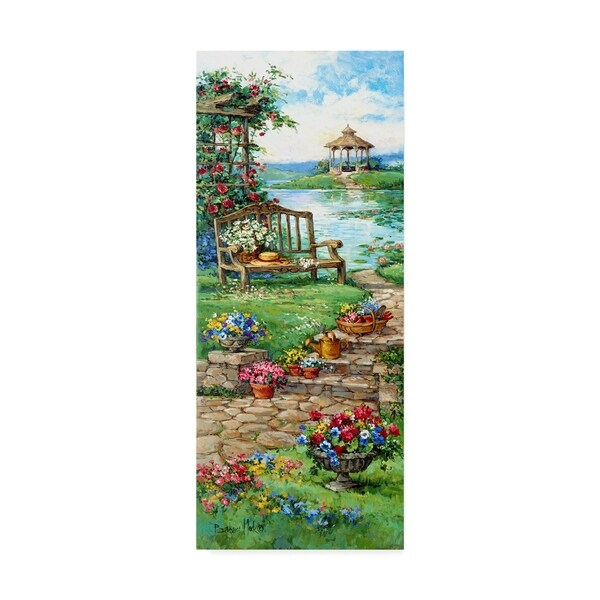 Barbara Mock ' Gazebo Garden' Canvas Art 36768316