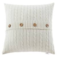 cable cotton knit throw pillow case