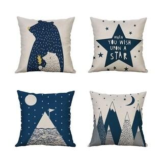 Bear Decorative Throw Pillow Case