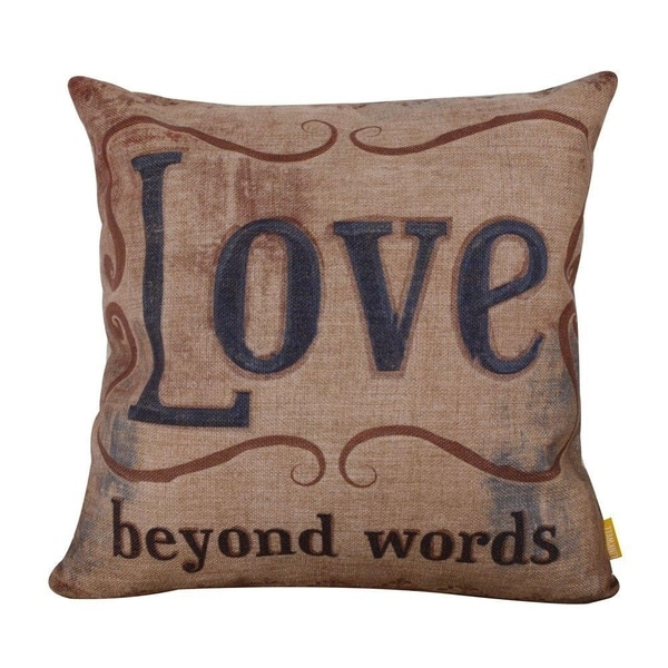 Vintage Love Every Day Burlap Cushion Covers