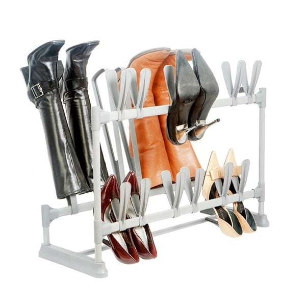 Shop Simplify 12 Pairs Of Shoe Amp 3 Pairs Of Boot Organizer
