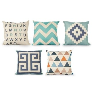 Decorative Throw Cushion Covers For living room Set of 5 18 x18 inch