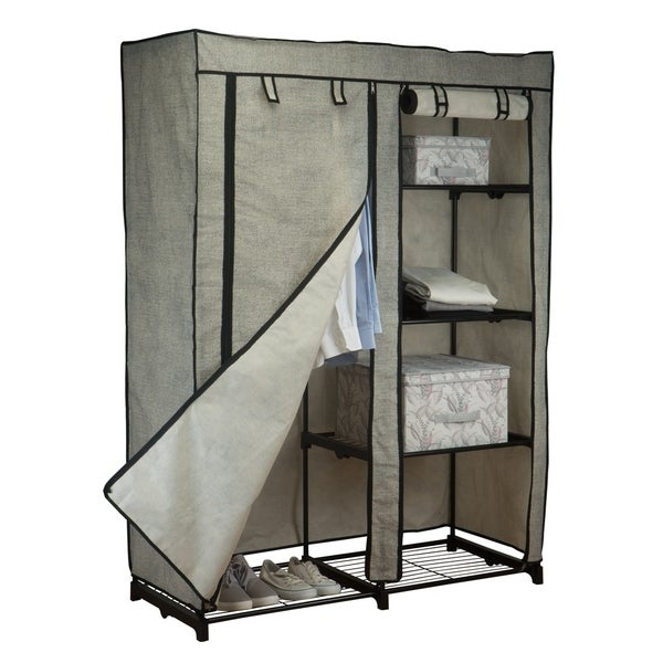 Shop Simplify 48 Quot Portable Closet In Black Free Shipping