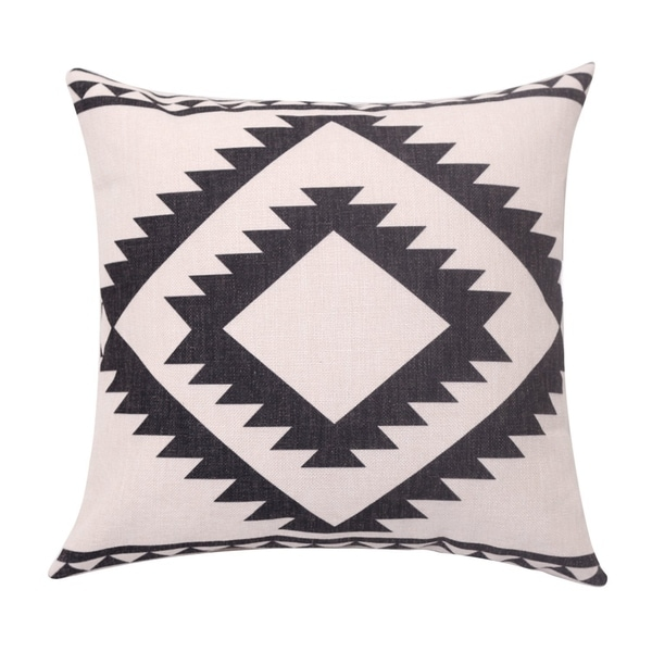 Square Linen Cushion Cover for Sofa Couch Farmhouse Outdoor