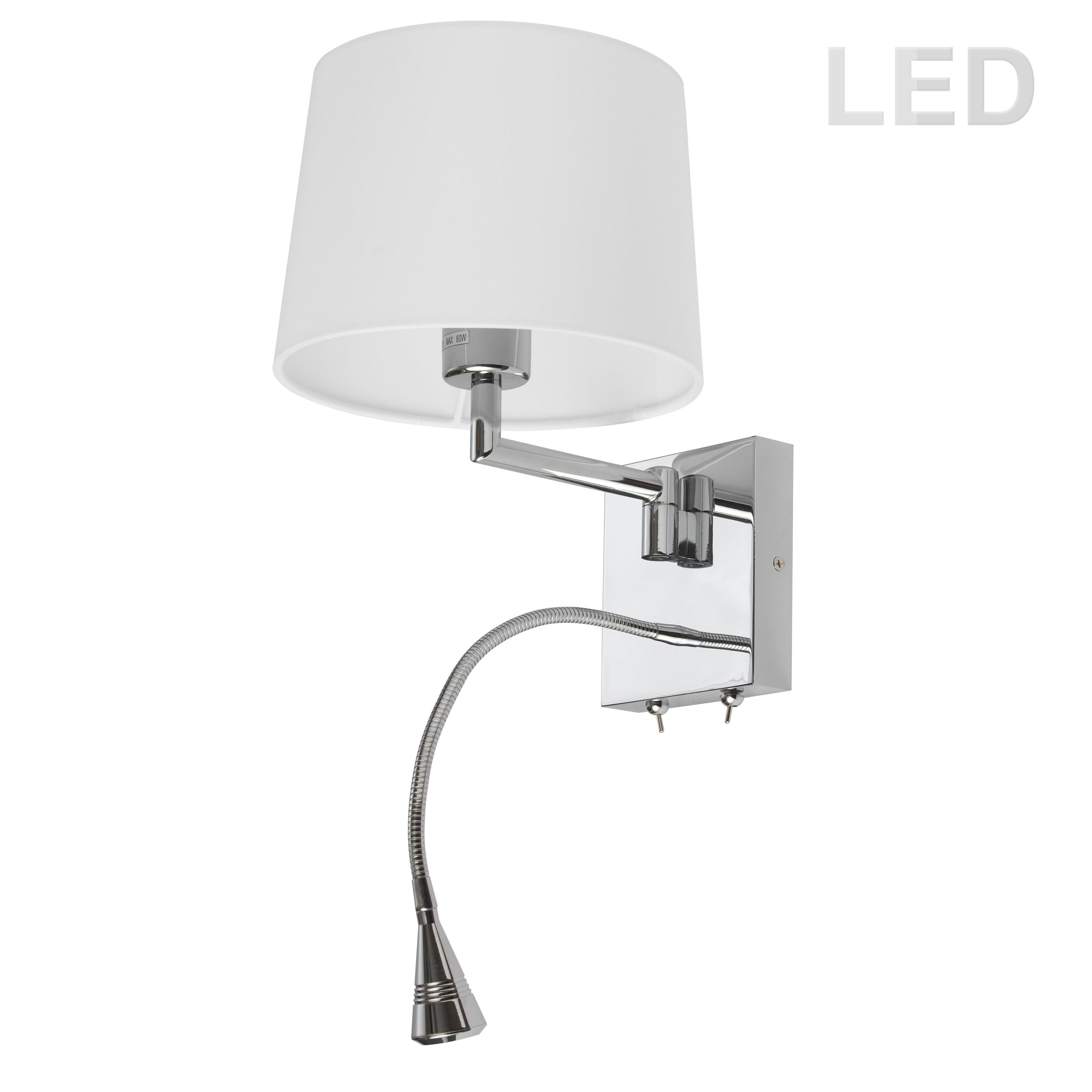 Wall Sconce W Led Reading Lamp Pc