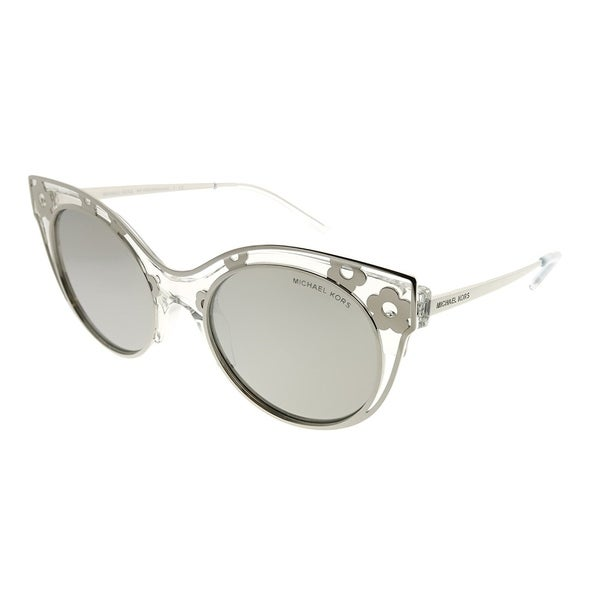9c2e7b1d2d282 Michael Kors Cat-Eye MK 1038 Melbourne 30506G Woman Crystal Clear Frame  Silver Mirror Lens