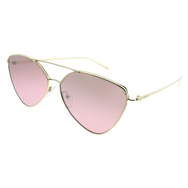 a589afed8d5 Prada Aviator PR 51US ZVN095 Woman Pale Gold Frame Violet Gradient Mirror  Lens Sunglasses