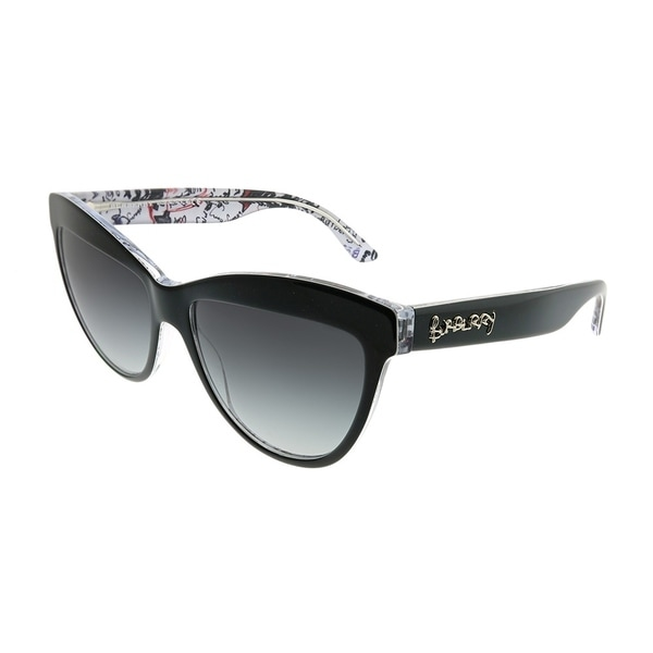 cf2ff296f9 Burberry Cat-Eye BE 4267 Doodle 37138G Woman Black on Doodle Pint Frame  Grey Gradient