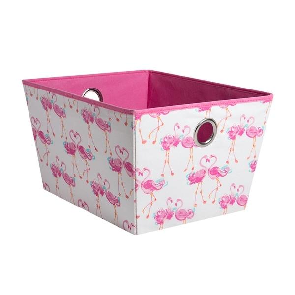 Laura Ashley Kids Medium Grommet Storage Bin In Pretty Flamingo