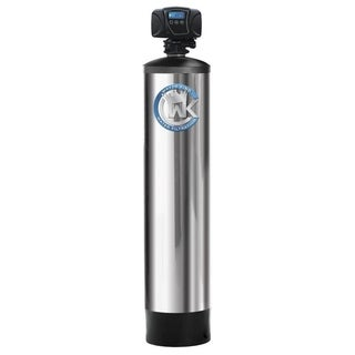 4 Stage Municipal Water Filtration and Conditioning System Treats up to 6 Bathrooms - Silver - N/A