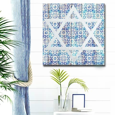 Olivia Rose Inspirational 'Star of David IV' Wrapped Canvas Judaica Wall Art