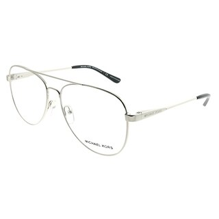 Michael Kors Aviator MK 3019 Procida 1118 Woman Silver Frame Eyeglasses
