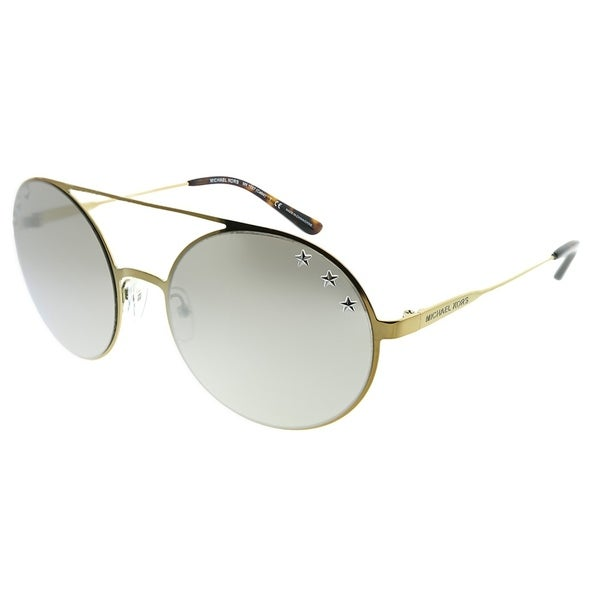 488c616dbb44 Michael Kors Round MK 1027 Cabo 11936G Woman Pale Gold Tone Frame Silver  Mirror Lens Sunglasses