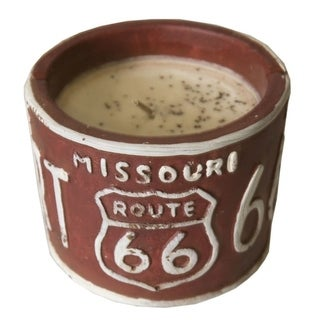 American Highway License Plate Candle Bourbon Maple Sugar