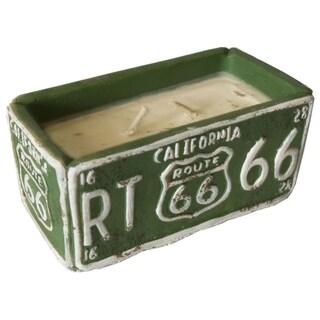 American Highway License Plate Candle Pineapple Vanilla Sugar