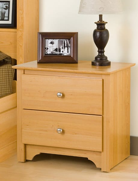 Montego Maple 2-drawer Nightstand