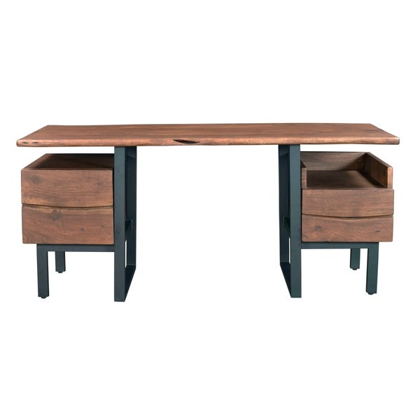 Two Drawer Writing Desk - Ships in 2 Cartons