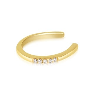 14K Gold and Diamond (.02 cttw) Ear Cuff Earring by Juliette Collection