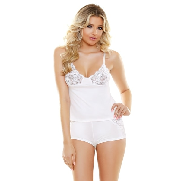 ff66b172c Shop Fantasy Lingerie Cami   Cutout Lace Shorts Set - Free Shipping On  Orders Over  45 - Overstock.com - 22075396