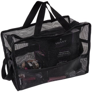 Link to SHANY Collapsible Makeup Mesh Bag and Cosmetics Travel Tote with Pockets – Black Similar Items in Makeup Brushes & Cases