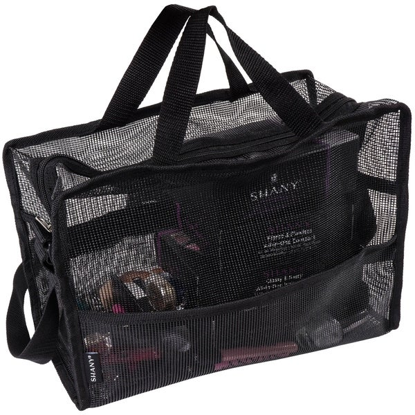 SHANY Collapsible Makeup Mesh Bag and Cosmetics Travel Tote with Pockets – Black. Opens flyout.