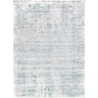 "Pasargad Transitiona Collection Hand-Knotted Bamboo Silk & Wool Area Rug- 10' 1"" X 13' 8"""