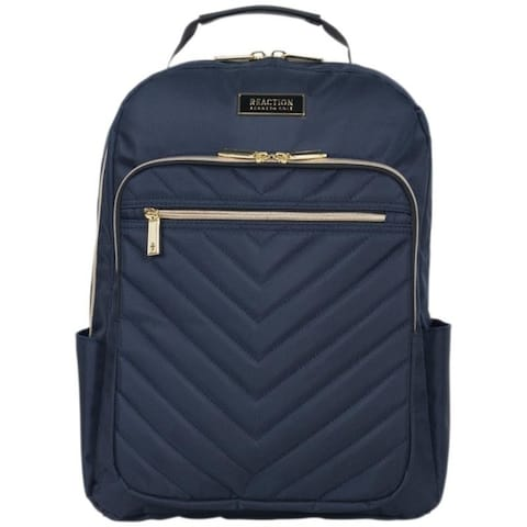Kenneth Cole Reaction 'Chelsea' Chevron Quilted 15-Inch Laptop & Tablet Women's Travel Backpack With Gold Hardware