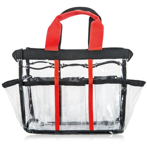 SHANY Clear Travel Makeup Bag - Cosmetics Organizer - Ready Set