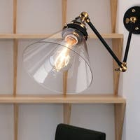 Laurentius Black 1-Light Sconce with Clear Glass Shade (includes Edison bulb)