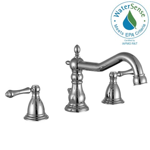 ANZZI Highland 8 in. Widespread 2-Handle Bathroom Faucet in Polished Chrome
