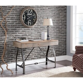 Carbon Loft Edelman Weathered Russet with Renovation Grey Writing Desk