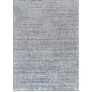 "Pasargad's Transitiona Collection Hand-Knotted Bsilk&wool Area Rug- 10' 1"" X 14' 0"""