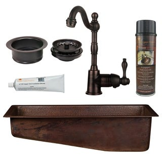 Premier Copper Products - BSP4_BRECSL28DB3-G Bar/Prep Sink, Faucet and Accessories