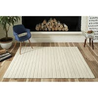 """Momeni Andes Hand Woven Viscose and Wool Ivory Area Rug - 7'9"""" x 9'9"""""""