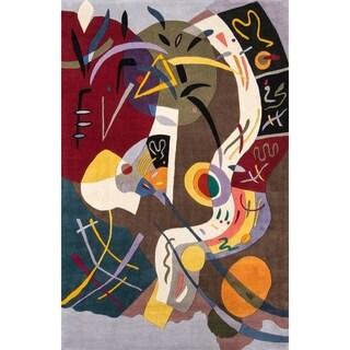 """Momeni Rio Multicolor Handmade Area Rug - 5' x 7'6"""""""