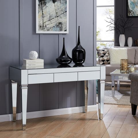 Dakota Silver Mirrored Desk