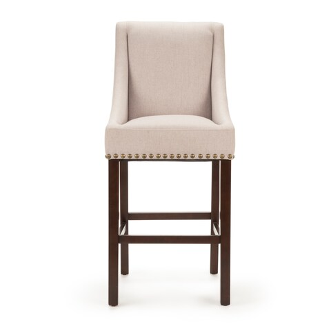 Jemma Cherry and Taupe Upholstered Bar Chair by Greyson Living (Set of 2)