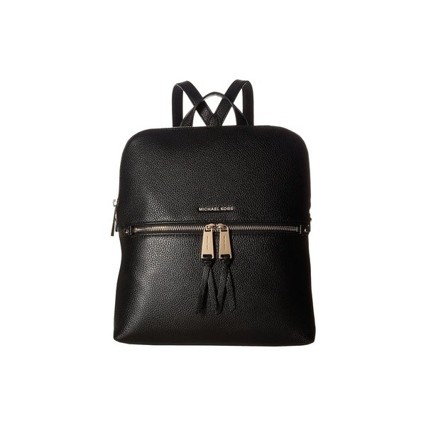 83690f403009a Shop MICHAEL Michael Kors Rhea Zip Medium Slim Black Backpack - Free ...