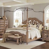Ilana Traditional Antique Linen Canopy Bed