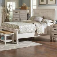 Franco Antique White Bed