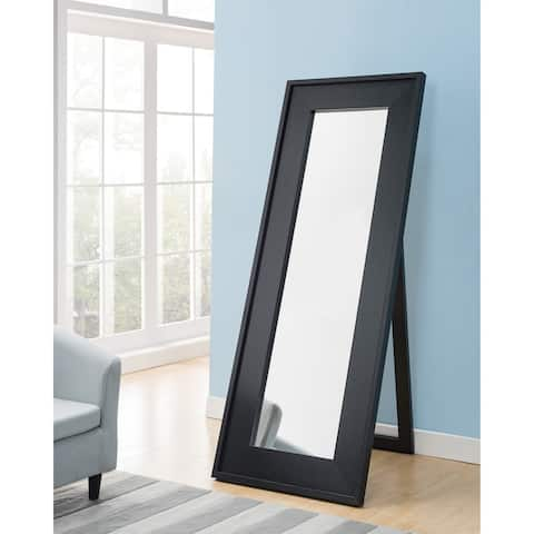 Furniture of America Nory Contemporary Black 72-inch Standing Mirror
