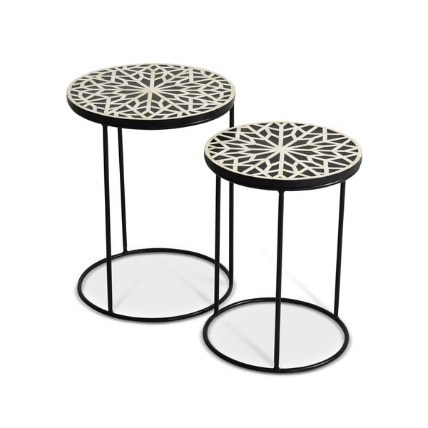Adrianna Round Nesting Tables by Greyson Living - 21 inches high x 16 inches wide x 16 inches deep. Opens flyout.