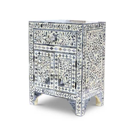 """Firoz Bone Inlay Accent Cabinet by Greyson Living - 16""""W x 12""""D x 24""""H"""