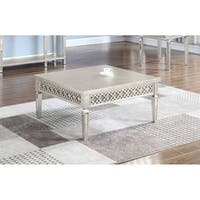 Best Master Furniture Champaign Gold Coffee Table