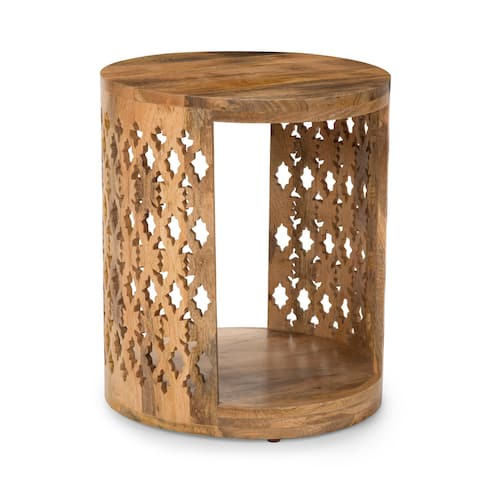 Brody Mango Wood Round End Table by Greyson Living