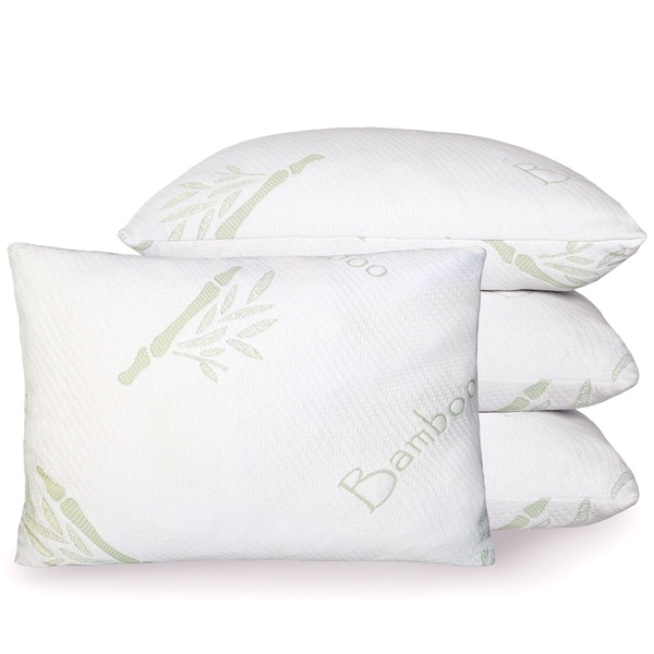 Luxury Bamboo Rayon from Bamboo Hypoallergenic Pillow with Shredded Memory Foam